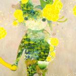 """""""雑草さん"""" oil on canvas 162x130cm"""