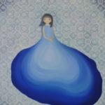 """""""産む人"""" oil on canvas 72.7x60.6cm"""